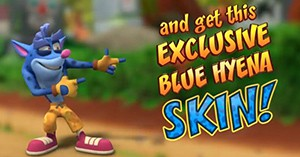 Crash Bandicoot: On the Run - Free Blue Hyena Skin