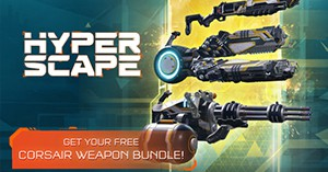 Hyper Scape: CORSAIR Weapon Skin Bundle Keys